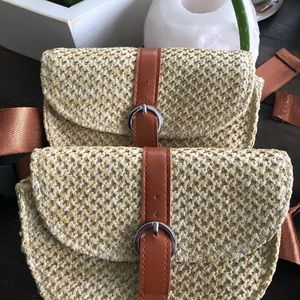 Bags - Boho Nomad Straw Travelers Fanny Pack